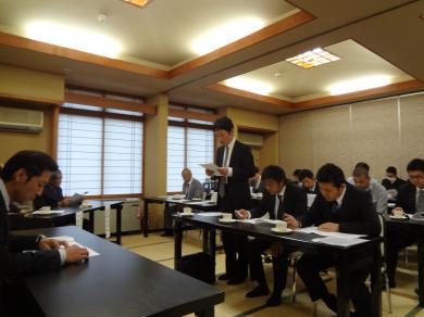 第9回青年部総会 議案の審議中Ⅱ
