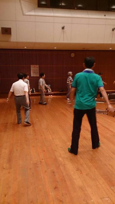 盆踊りの練習風景①
