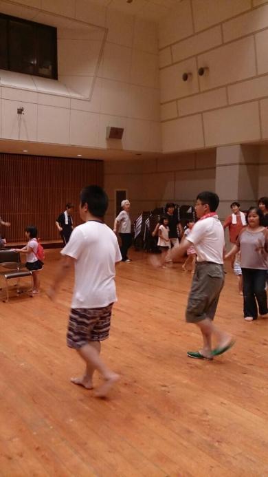 盆踊りの練習風景②